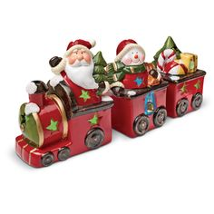 Choo Choo! Santa and is helpers are coming through your mantle with this adorable light-up ceramic train. All proceeds benefit #diabetes research.
