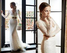 Wedding dress. Sexy wedding dress Anna. Lace by DressesLioness