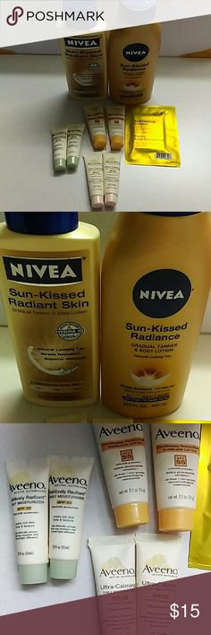 🌻Sun bundle Two self tanning lotions,  sunblocks and face moisterizers and a sunless towelette Swim