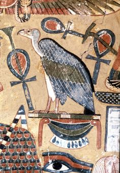 Details from the painted anthropoid coffin of Ahmose, dynasty, found at Thebes, Upper Egypt (British Museum by Las Aguas del Nilo Ancient Egypt Art For Kids, Ancient Egypt Display, Ancient Egypt Crafts, Ancient Egypt History, Ancient Egyptian Art, Ancient Egypt Animals, British Museum Egypt, Egypt Museum, Tattoo Falcon