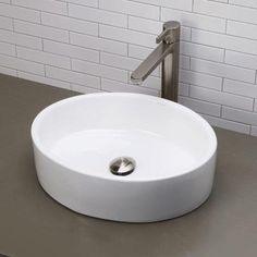 DECOLAV Classically Redefined Vessel Sink in White-1459-CWH - The Home Depot