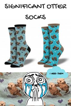 You otter buy these significant otter socks for your otter half http://goo.gl/afd1CI