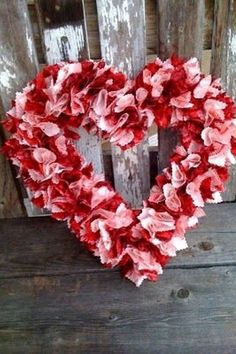 Creative Jules: Valentine Wreath Like this.Valentine scrap fabric Wreath I'm in Lovely Handmade Valentine Wreath Design On A BudgetValentine Wreath for Didi's doorI'm not sure if I am looking in the wrong places but the first year I decide to actu Diy Valentines Day Wreath, Homemade Valentines, Valentines Day Decorations, Valentine Day Crafts, Printable Valentine, Wreath Crafts, Diy Wreath, Wreath Ideas, Wreath Burlap