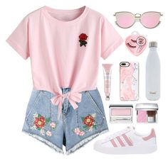 """""""everything's coming up roses"""" by mj-3 ❤ liked on Polyvore featuring House of Holland, WithChic, adidas Originals, Clinique, Christian Dior, Casetify, S'well and Medusa's Makeup"""