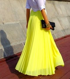 I'm not too fond of neon, but I love that yellow is in again this summer.