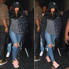 Rihanna Partied In Puma Before The Holidays