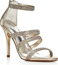 e43b08b069f6 Caparros Immense Metallic Embellished High Heel Sandals