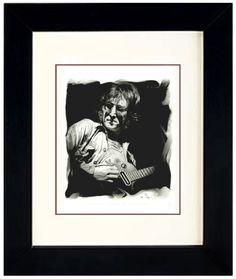 John Lennon Original Framed Graphite Portrait by Steve Madonna