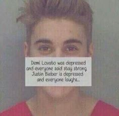 I'm a lovatic i wanted Demi to stay strong. I am not a belieber but I want Justin to stay strong too.