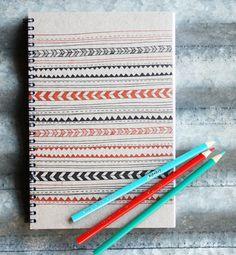 letterpress sketchbook lines and dashes.