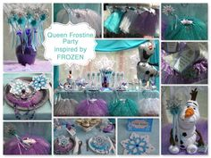 Frozen Birthday party ideas. Queen Frostine Party to Go Box. Shop www.myprincesspartytogo.com #princesspartyideas #frozen