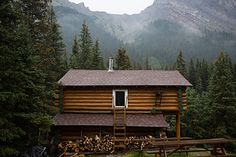 Halfway Hut located in beautiful Banff National Park