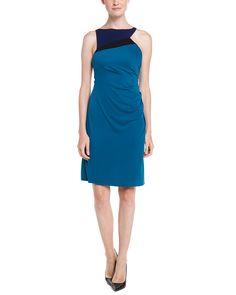 BCBGMAXAZRIA Adair Bright Teal Asymmetrical Colorblocked Dress is on Rue. Shop it now.