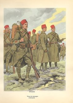 French;Zouave, tenue de Campaign in France 1935