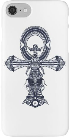Ankh tattoo, ancient egyptian cross t-shirt design. Decorative ethnic style of Ancient Egypt. Ankh symbol of eternal life tattoo, key to immortality