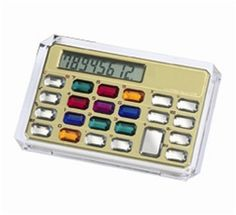 We had this same calculator when I was little.  Ahhh the memories.     Jeweled Calculator from SortingWithStyle
