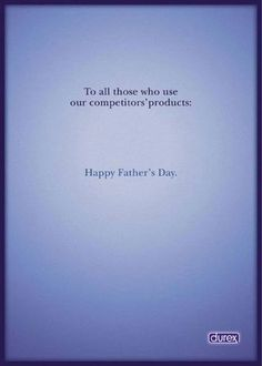 I found this very humorous and really shows how important durex are getting their message across, in that they are the best to offer protection for safe sex.