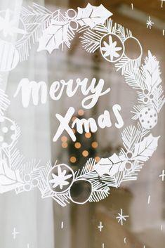 Merry Xmas, Christmas Time, Home Decor, Rico Design, Vinyls, Pintura, White Christmas, Window Glass, Iron