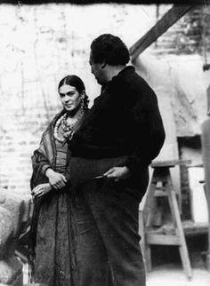 Frida y Diego. Fotografía de Edward Weston.