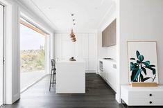 White open plan kitchen | Gitarren Haus by Bijl Architecture | NONAGON.style