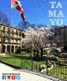Queda poco para el concurso de #TamayoPapeleria de pintura en primavera al aire libre... La plaza de Gipuzkoa de #Donostia #SanSebastian está espectacular. Puedes leer las bases e inscribirte en nuestra web http://ift.tt/1VPATPA Date prisa que es este Sábado. Inspirate y vete pensando con qué vas a sorprendernos este año.
