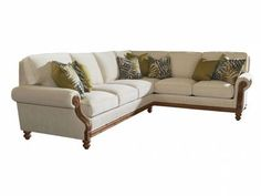 Tommy Bahama Home Island Estate West Shore Right Arm Facing Corner Sofa at Goods Home Furnishings in Charlotte North Carolina Furniture Stores and Hickory NC Furniture Outlets Corner Sectional Sofa, Corner Sofa, Sectional Sofas, Sofa Set, Living Furniture, Sofa Furniture, North Carolina Furniture, Unique Sofas, Goods Home Furnishings