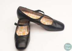 1960s Cover Girl Black Mary Jane Shoes Size by BloomersAndFrocks, $58.00