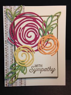 A Flourishing Phrases Swirly Scribbles and Rose Garden Sympathy Card