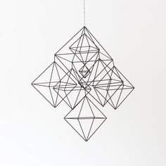 Large+Himmeli+No.2+/+Modern+Hanging+Mobile+/+Geometric+door+HRUSKAA,+$225.00