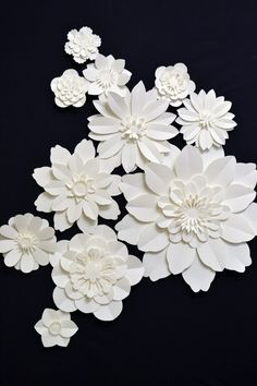 Set of paper flowers for wedding decoration by comeuppance on Etsy, £35.00