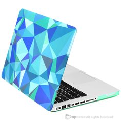 "TopCase 13-Inch Pro Blue Geometric Abstract Art Pattern Rubberized Hard Case for MacBook Pro 13"" Model A1278 by TopCaseUSA on Etsy https://www.etsy.com/listing/261333921/topcase-13-inch-pro-blue-geometric"