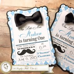 Little Man Mustache Bow Tie Set of 10 Custom от SimplyFabChic