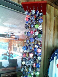 Beer bottle cap wind chime