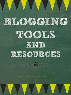RUNNING WITH OLLIE: Social Media Sunday - Favorite Blogging Tools and Resources