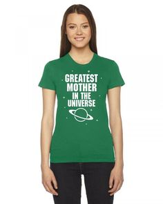 greatest mother in the universe white print Ladies Fitted T-Shirt