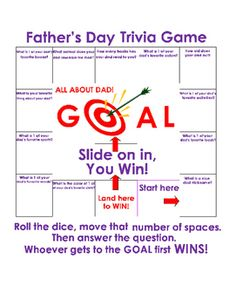 Fathers Day Trivia Game. ALL ABOUT DAD. Great for Fun Stuff, Critical Thinking, Fun Activity. ELA Printable! 1 page.