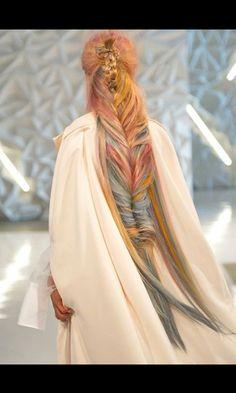 Rainbow Viking braid