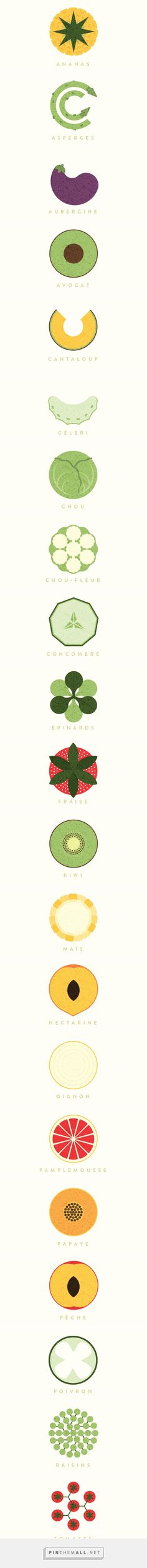 Fruits & Légumes / Fruits & Vegetables on Behance... - a grouped images picture - Pin Them All