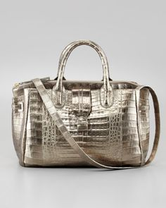 Cristina Crocodile Shoulder Tote Bag, Bronze by Nancy Gonzalez at Neiman Marcus.