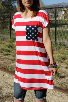 American Flag Dress/Tunic
