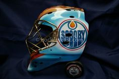 Airbrushed goalie mask with Scooby Doo theme. Airbrush art by Cam Wilson.