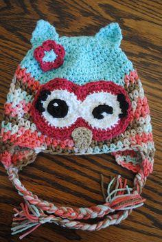 free crochet hat pattern winky winky the owl
