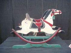 Antique Double Rocking Horse circa late 1800s