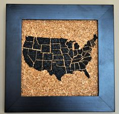 USA Themed Push Pin Cork Map Of The United States TriColor - Us travel map on cork board