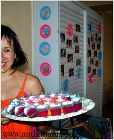 Βarbie Merlia party ideas, welcome jelly, Ανθομέλι