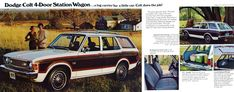 Carsthatnevermadeitetc — Dodge Colt brochure, 1975. A captive import AKA... Mitsubishi Colt, Mitsubishi Galant, Woody Wagon, Car Brochure, Station Wagon, Old Cars, Plymouth, Dodge, North America