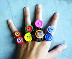 DIY Button Rings - Morning Creativity