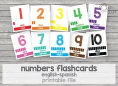 Un favorito personal de mi tienda Etsy https://www.etsy.com/mx/listing/237479498/tarjetas-de-numeros-imprimibles-para
