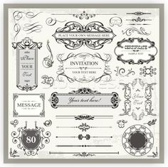 Vintage ornamental and page decoration calligraphic designs set. Stock photo © clipart_design