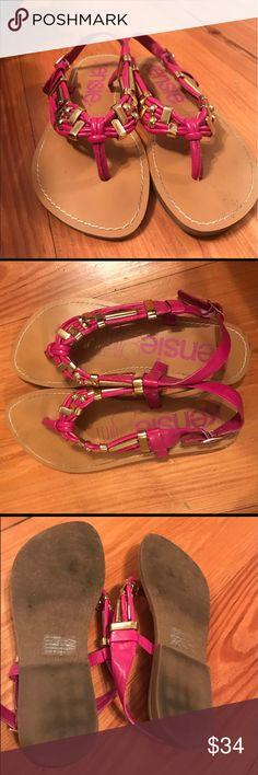 Kensie Girl Pink Sandals Kensie Girl Sammie Pink Sandals. Worn a handful of times, gold decoration on the straps. Kensie Girl Shoes Sandals